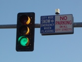 snow emergency flashing light