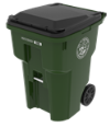 image of green City of Manchester trash cart
