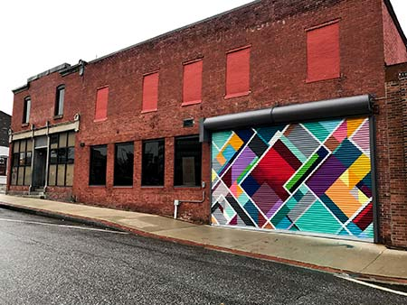 Manchester Makerspace Mural commissioned by Manchester Arts Commission