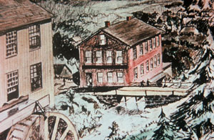 Drawing of a 19th Century Mill Building