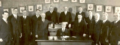Mayor Trudel and the Board of Mayor and Aldermen, 1924-1925
