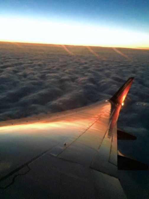 Sky and Airplane Wing