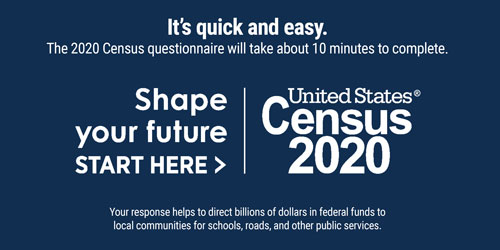 United States Census 2020. Shape your future Start Here. It's quick and easy. The 2020 Census questionnaire will take about 10 minutes to complete. Your response helps to direct billions of dollars in federal funds to local communities for schools, roads, and other public services.