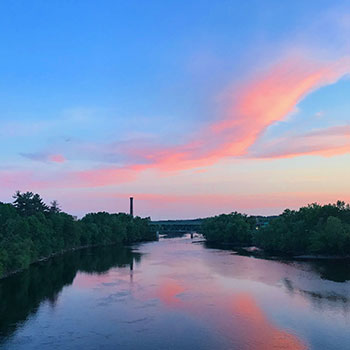 Merrimack River at Sunset
