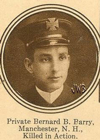 Private Bernard B. Barry, Manchester, N.H., Killed in Action.