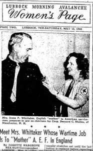 newspaper showing Cpl. Mullens