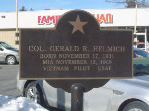 Gerald R. Helmich recognition plaque