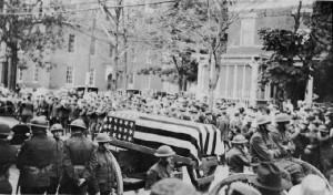 William H. Jutras flag draped casket, St. Raphael's Parish