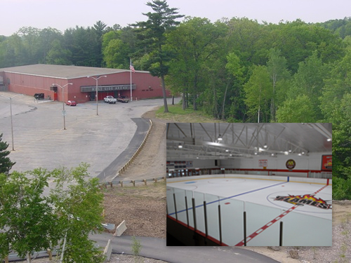 West Side Ice Arena inside and outside picture