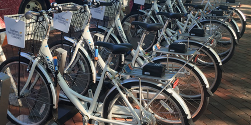 Photo of bike share bikes in Manchester, NH