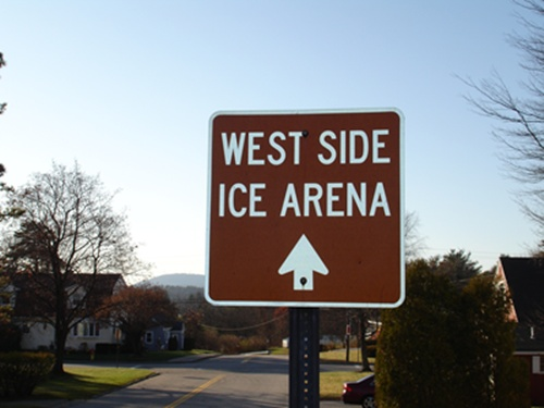 West Side Ice Arena Sign