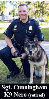 Sgt. Cunningham and K-9 Nero (retired)