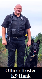 Officer Foster and K9 Hank