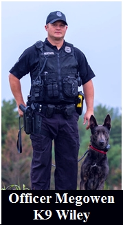 Officer Megowen and K9 Wiley