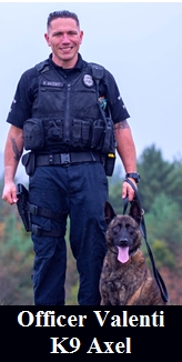 Officer Valenti and K9 Axel