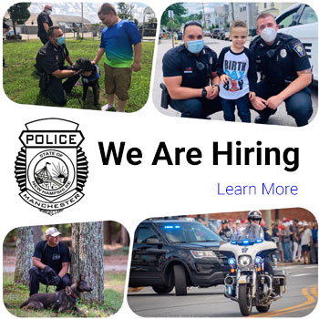 We are Hiring. Collage of police officers
