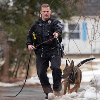 Manchester Police Officer with K-9