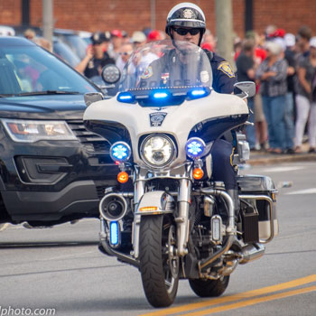 Manchester Police Officer on Motorcycle