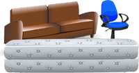 image of sofa, mattress and chair