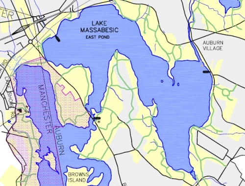 Massabesic Boat Launch Map