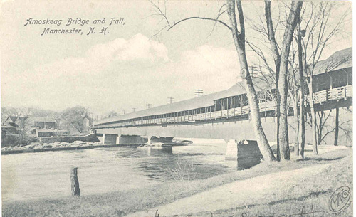 Amoskeag Bridge and Fall, Manchester, NH